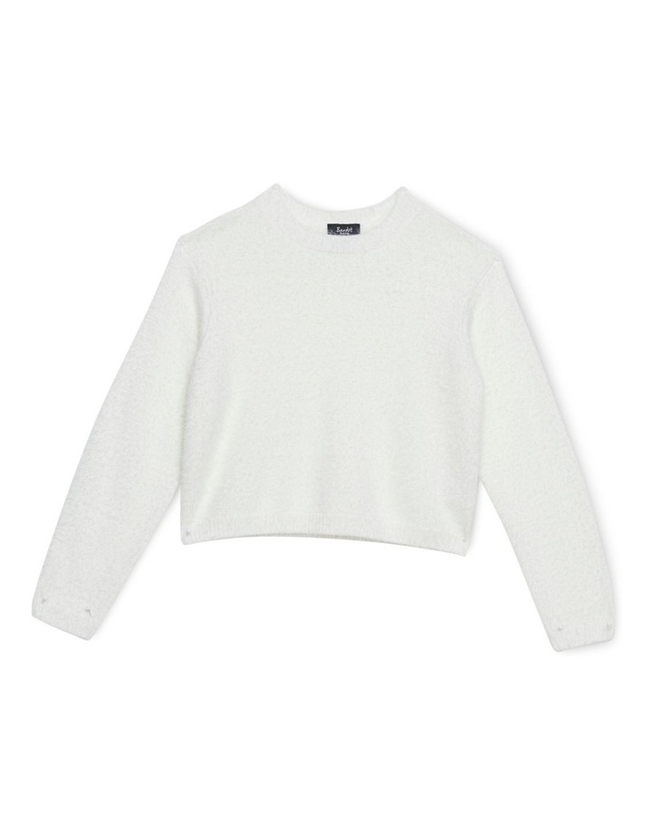 Cropped Fluffy Knit 3-7 image 1