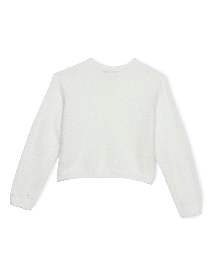 Cropped Fluffy Knit 3-7 image 2