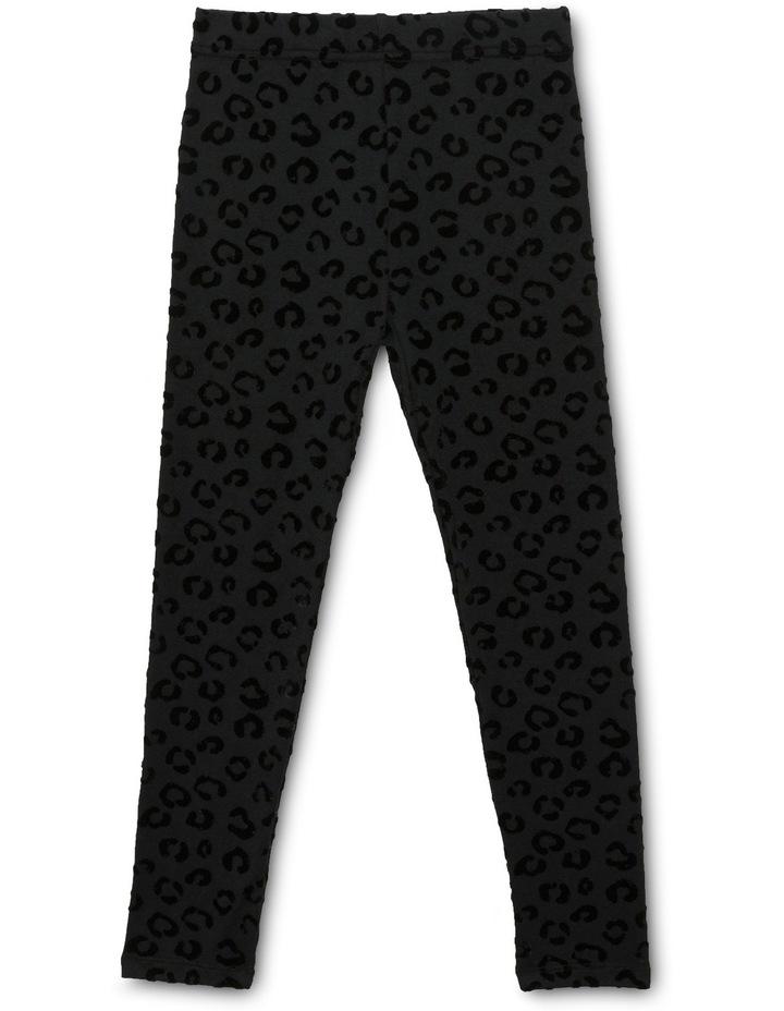 Leopard Flocking Legging image 1