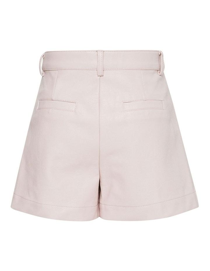 Belle Vegan Leather Shorts Pink image 2