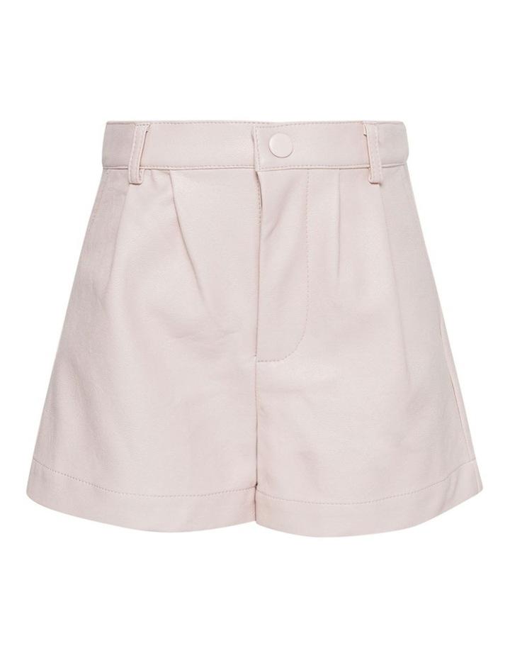 Belle Vegan Leather Shorts Pink image 3