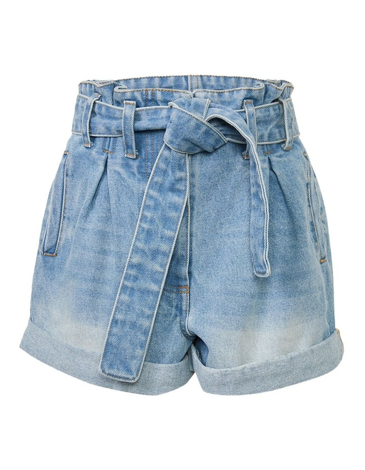 Paperbag Denim Shorts image 1
