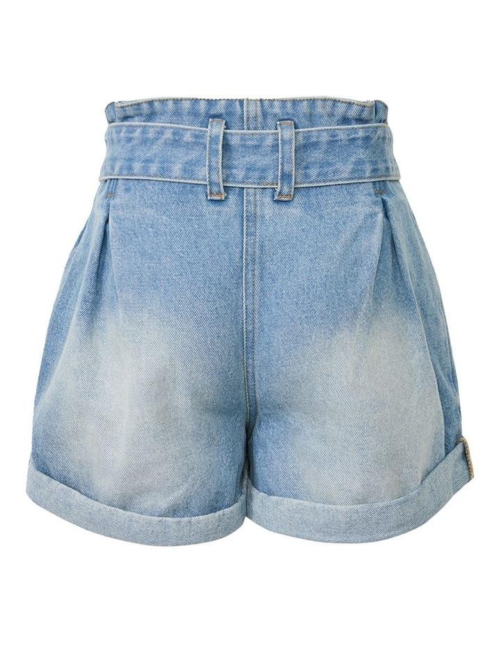 Paperbag Denim Shorts image 2