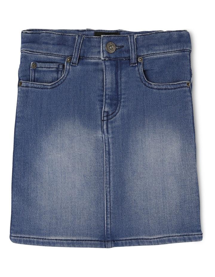 High Rise Denim Skirt image 1