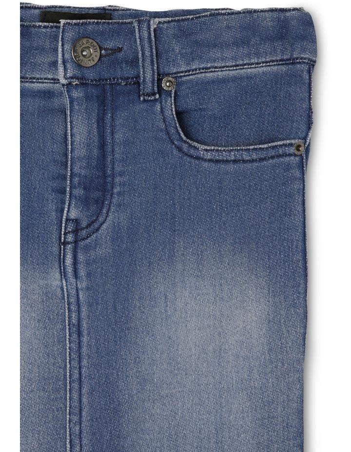 High Rise Denim Skirt image 2