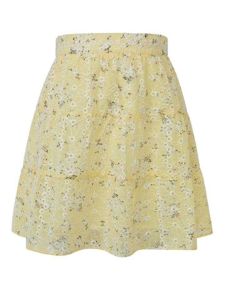 Ella Tiered Skirt Yellow image 1