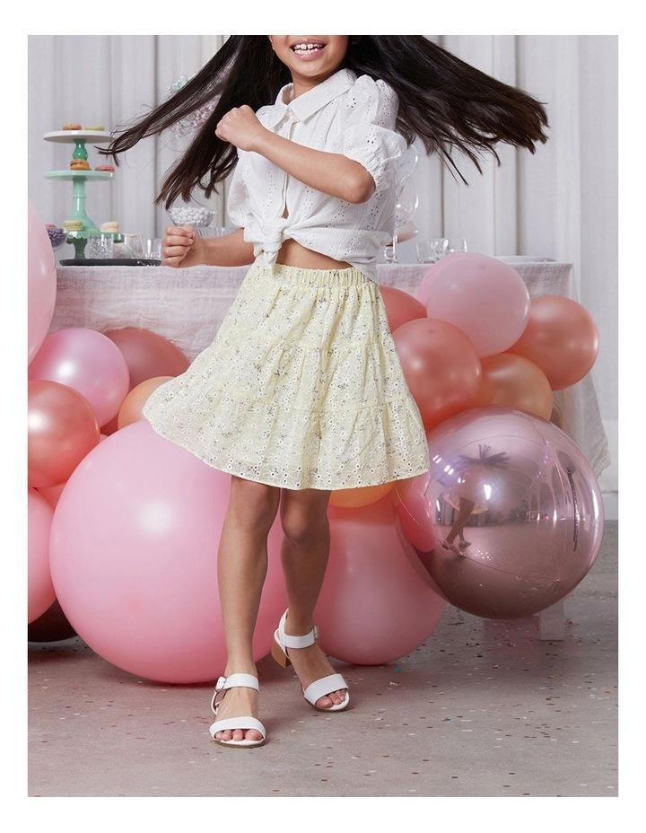 Ella Tiered Skirt Yellow image 4