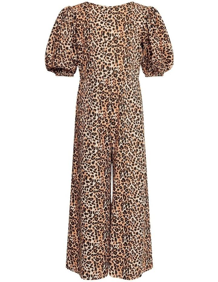 Lianna Leopard Print Wide Leg Jumpsuit image 1