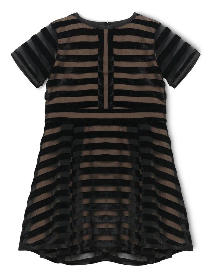 Linear Velour Dress 4-7 image 1