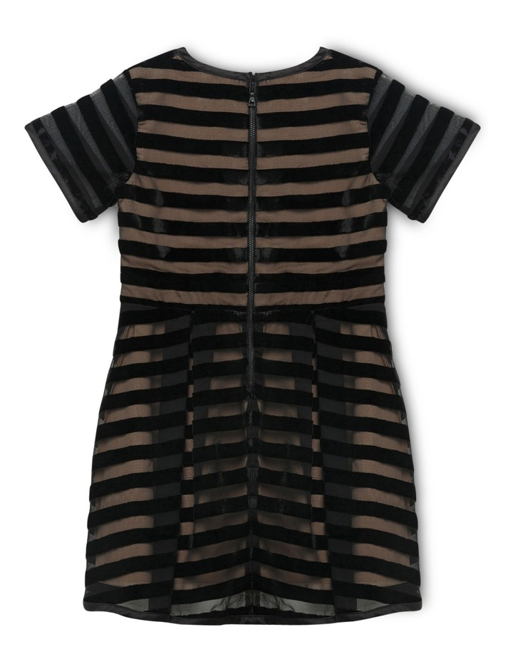 Linear Velour Dress 4-7 image 2