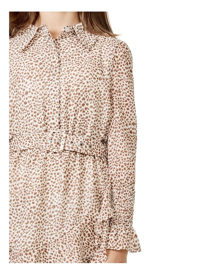 Bessie Mini Dress Beige image 4