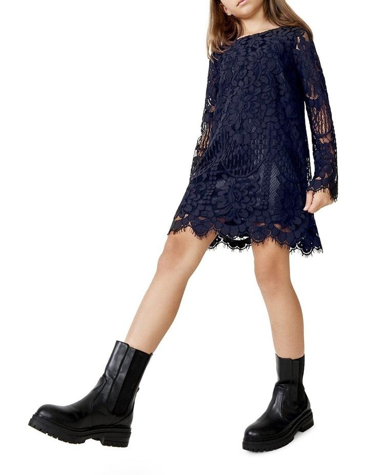 Sofia Lace Dress Navy image 1