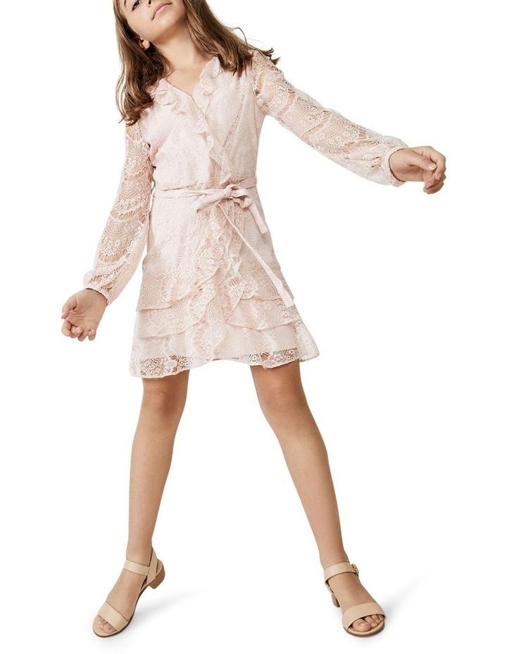 Lace Triple Frill Dress Light Pink image 1