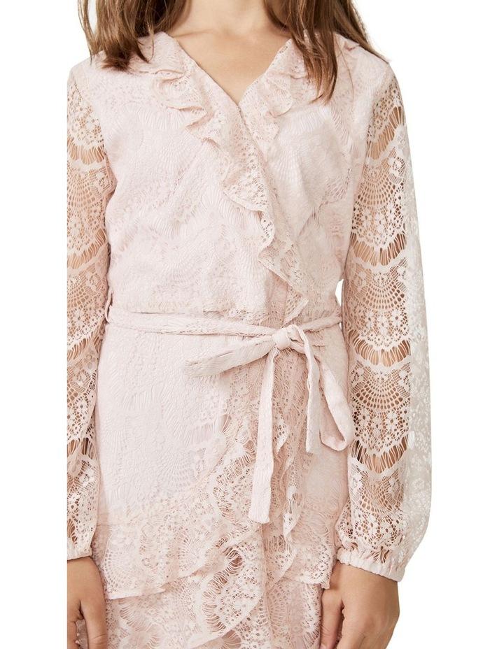Lace Triple Frill Dress Light Pink image 2