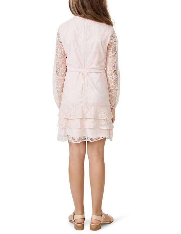 Lace Triple Frill Dress Light Pink image 3