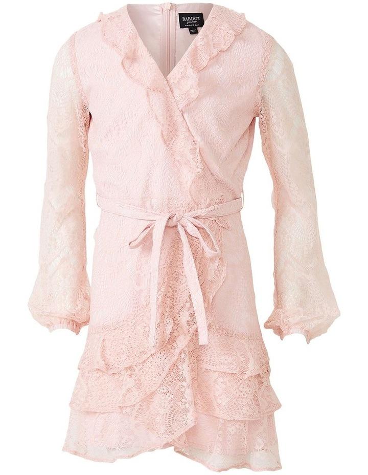 Lace Triple Frill Dress Light Pink image 4
