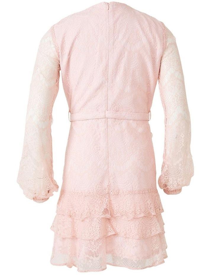 Lace Triple Frill Dress Light Pink image 5