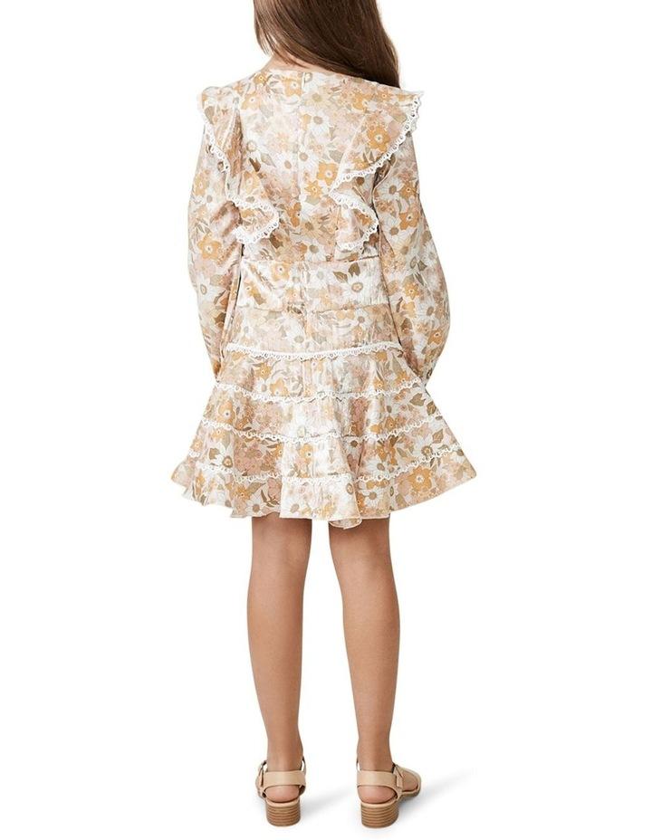 Sadie Trim Vintage Floral Printed Dress Multicolour image 3