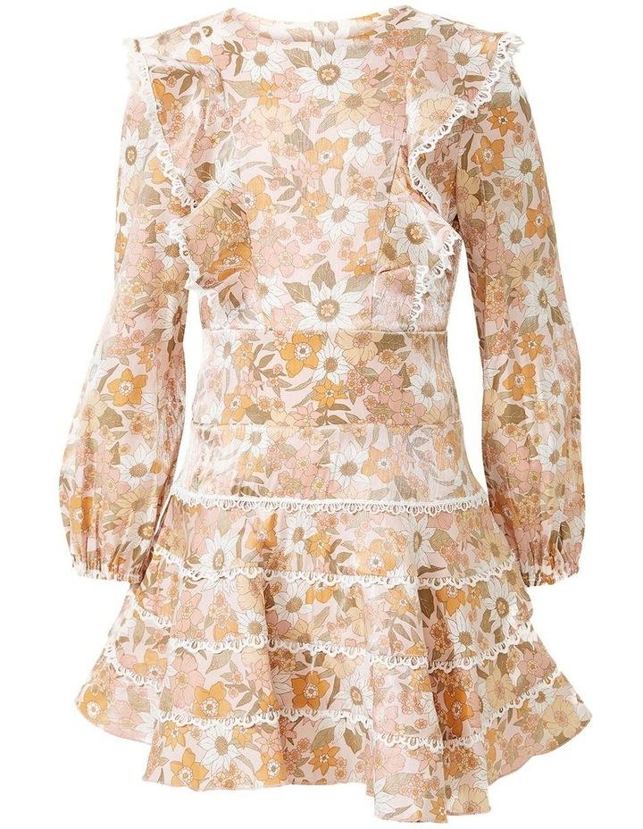 Sadie Trim Vintage Floral Printed Dress Multicolour image 4