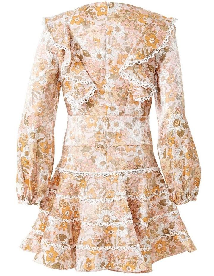 Sadie Trim Vintage Floral Printed Dress Multicolour image 5