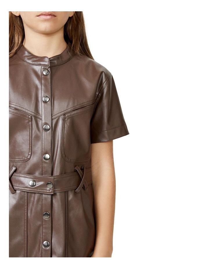 Belle Mini Dress Brown image 2