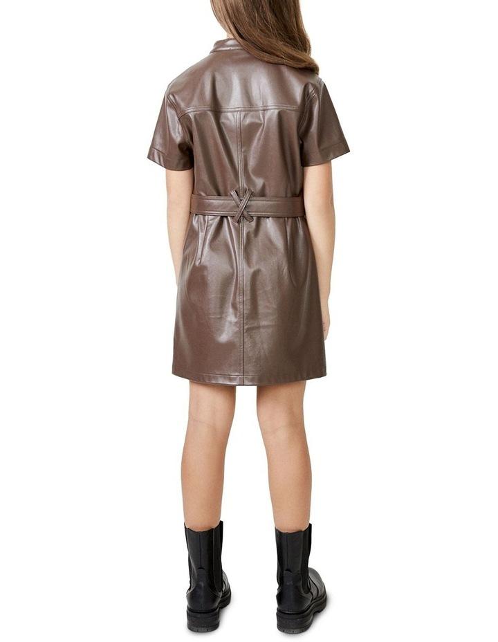 Belle Mini Dress Brown image 3
