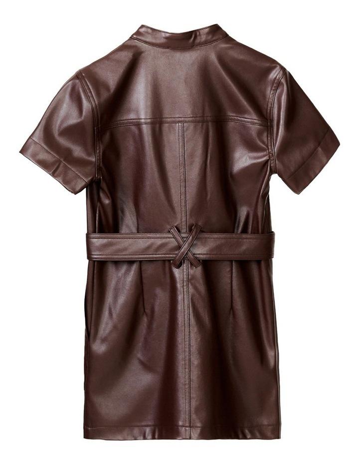 Belle Mini Dress Brown image 5