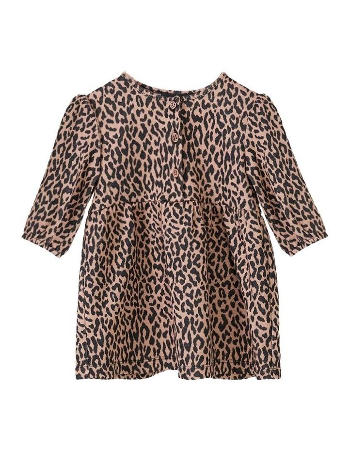 Leopard Printed Mini Dress Brown image 1