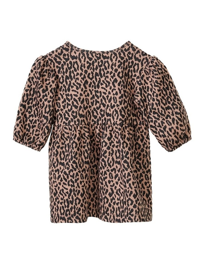 Leopard Printed Mini Dress Brown image 2