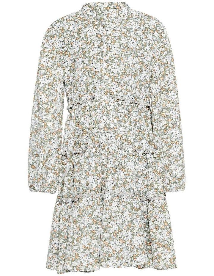 Serenity Floral Mini Dress Khaki image 1