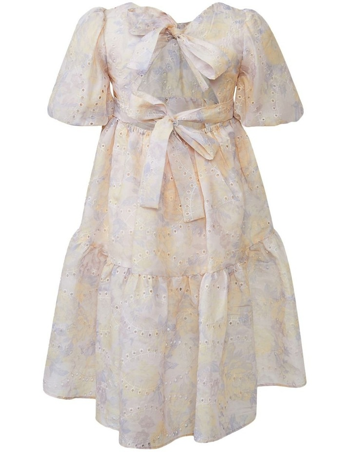 Soft Floral Tiered Dress Purple image 2