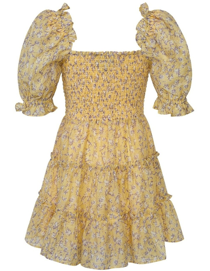 Tiered Floral Dress Yellow image 2