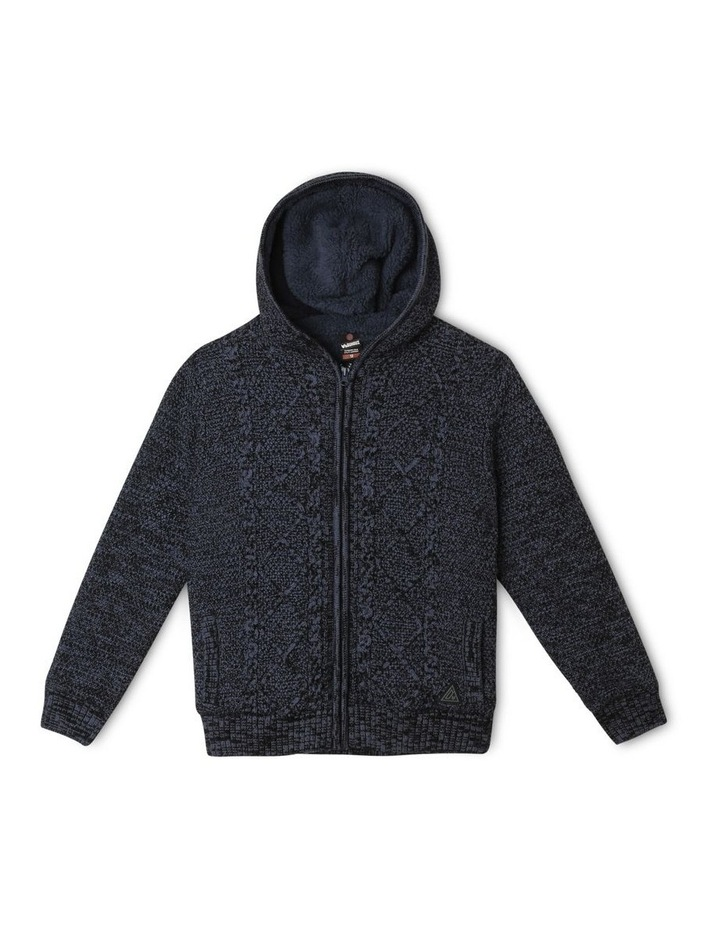 Sherpa-Lined Hooded Sweater image 1