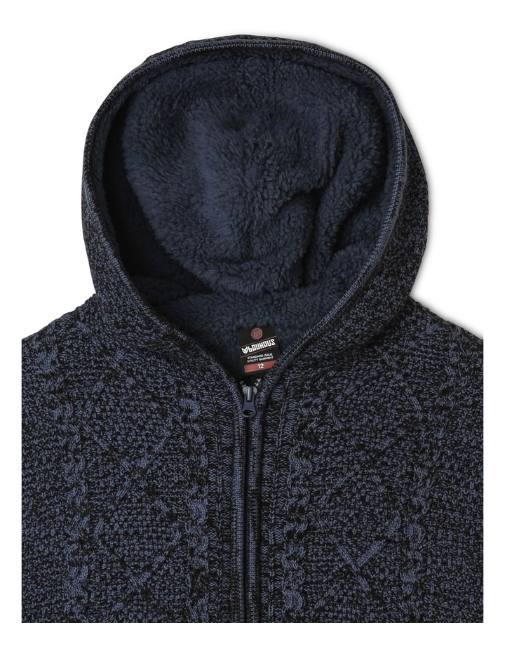 Sherpa-Lined Hooded Sweater image 4