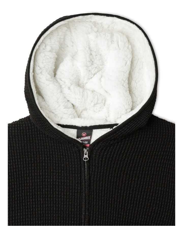 Knitted Sherpa Lined Zip Thru Jumper image 3