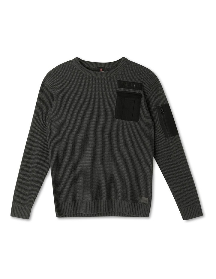 Knitted Waffle Utility Jumper image 1