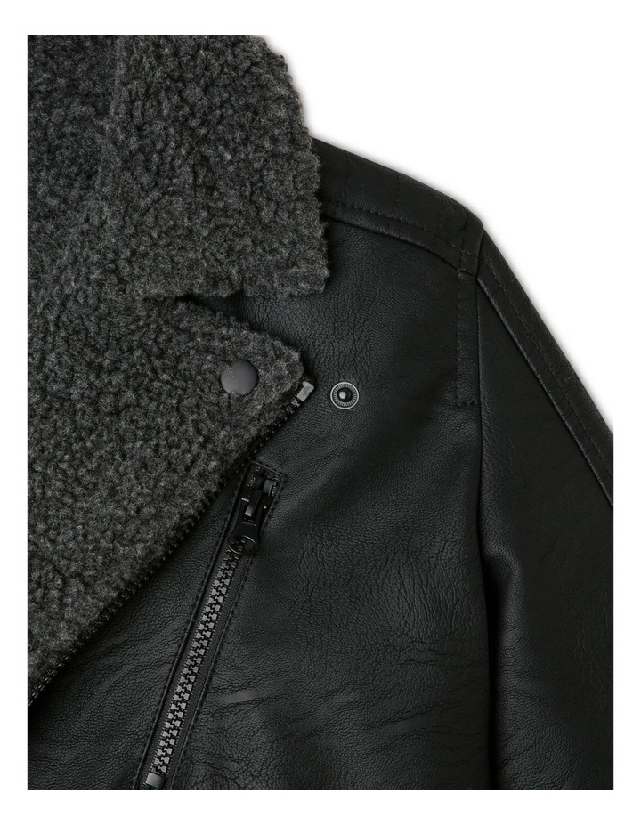 Sherpa-Lined Biker Jacket image 4