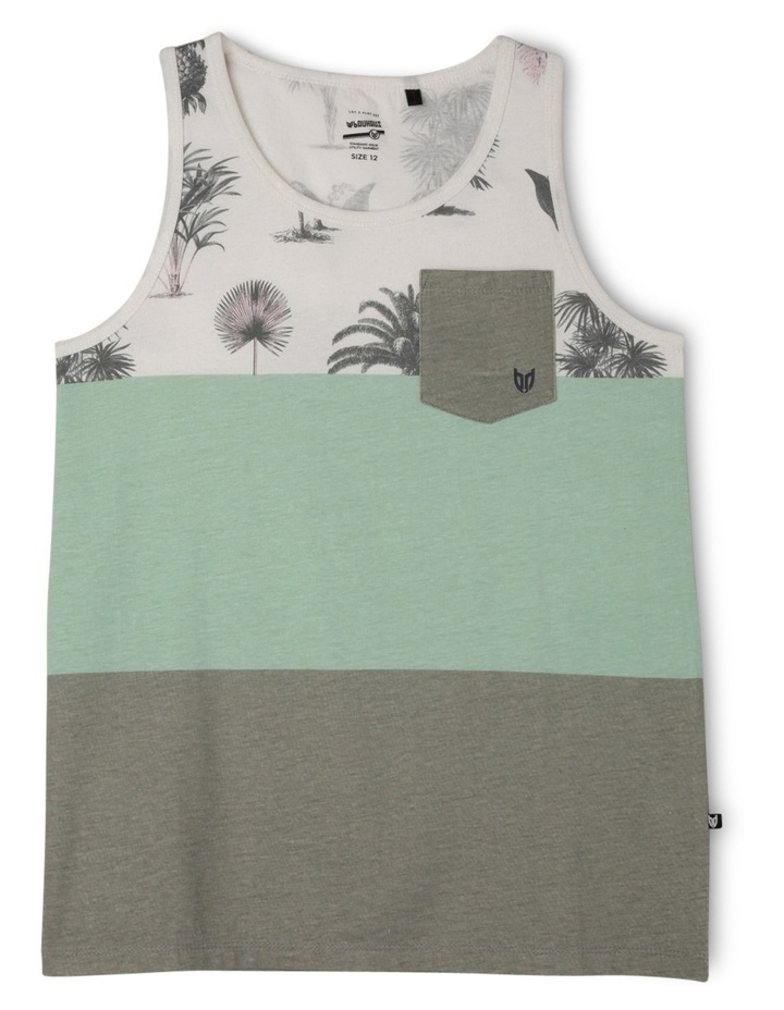 Block Print Singlet With Pocket image 1