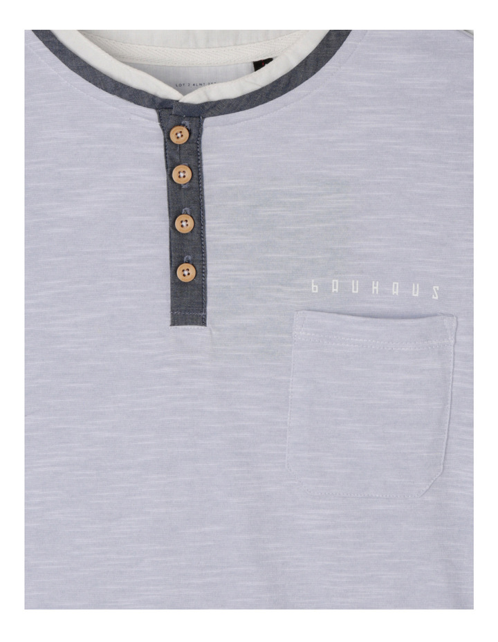 Henley Woven Shirt Tail image 2