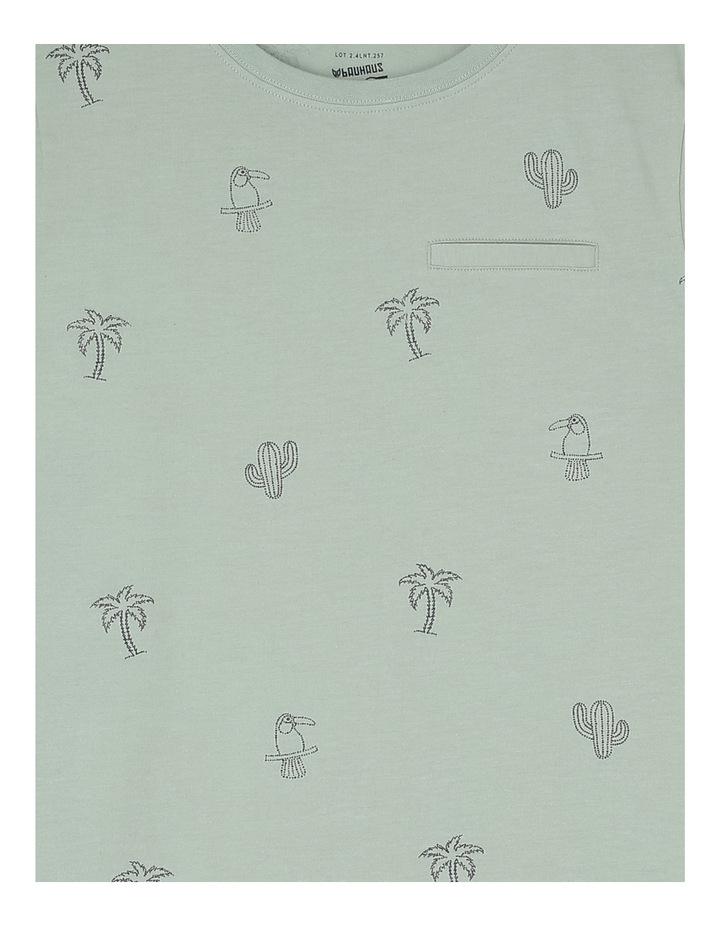 Tropical Print Pocket Tee image 2