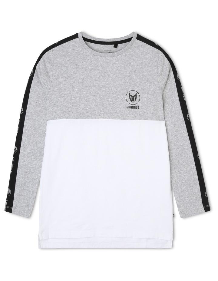 Spliced Long Sleeve T-Shirt image 1
