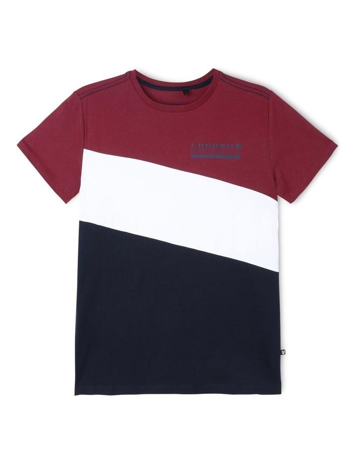 Contrast Spliced T-Shirt image 1