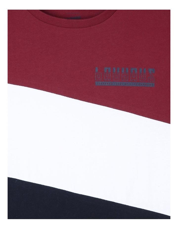 Contrast Spliced T-Shirt image 2