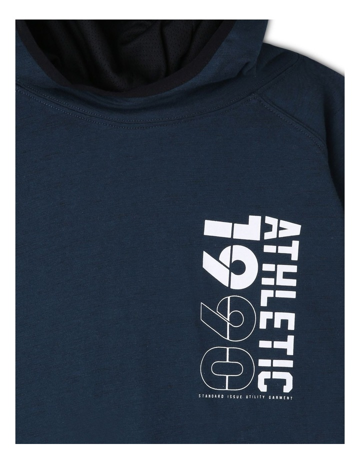 Athletic Hooded Long Sleeve T-Shirt image 2