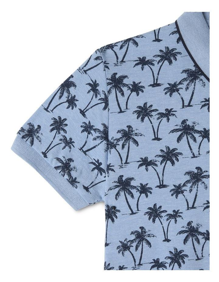 Palm Printed Polo Tee image 3