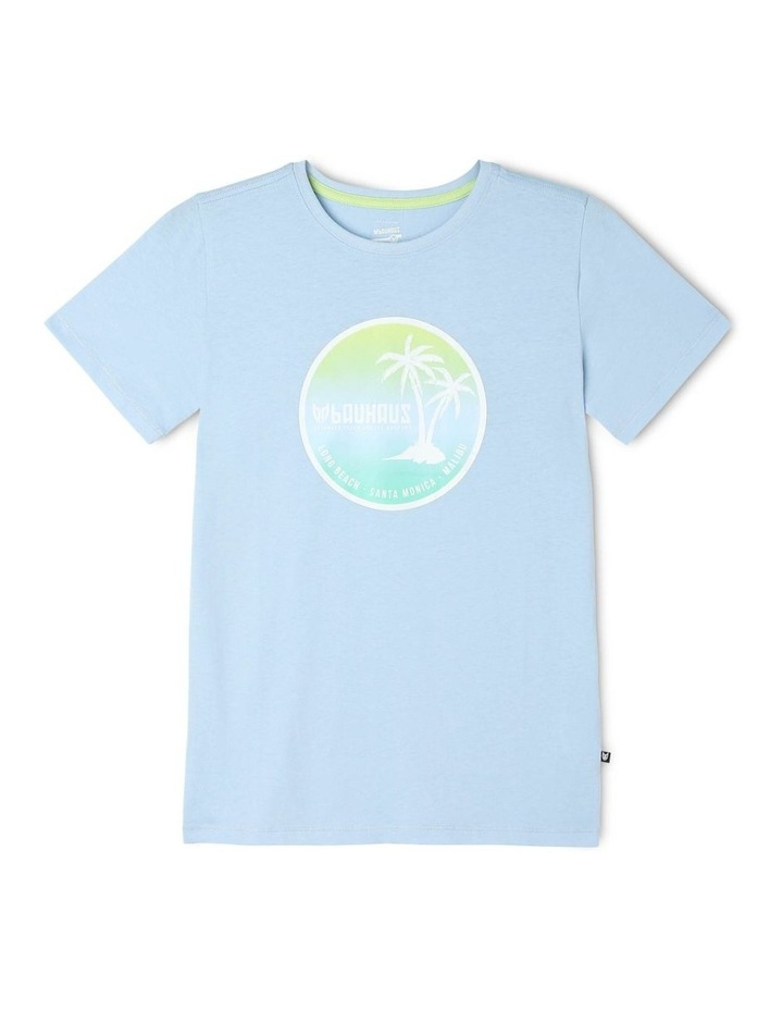 Ombre Palm Tree Print Essential T-Shirt image 1