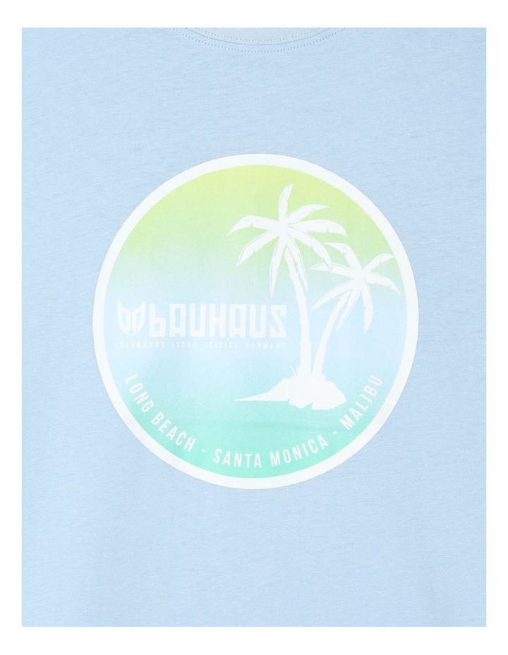 Ombre Palm Tree Print Essential T-Shirt image 2