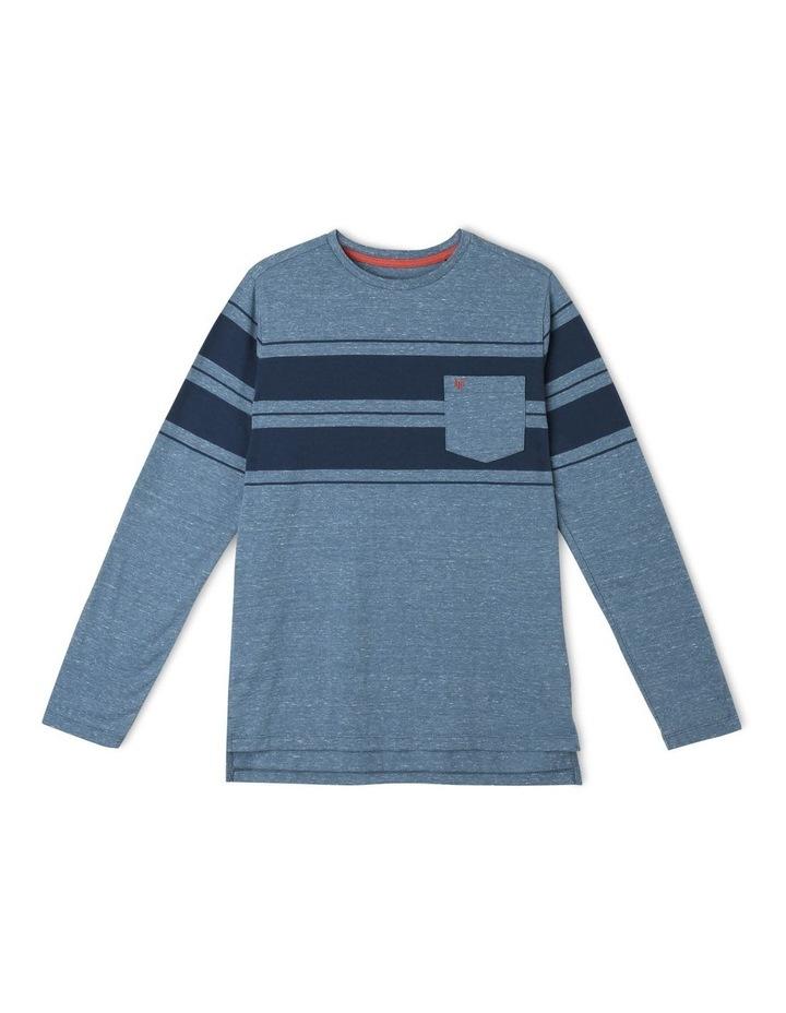 Melange Stripe Long-Sleeve T-Shirt image 1
