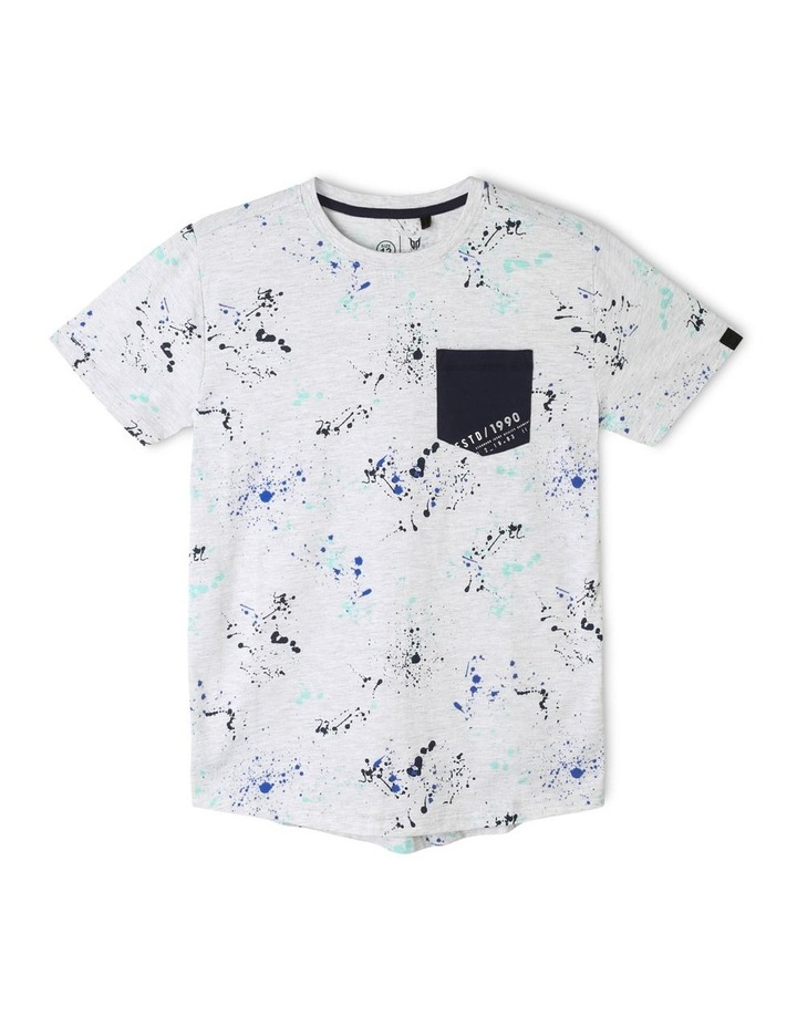Print T-Shirt with Patch Pocket image 1