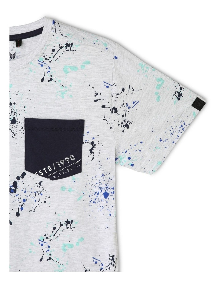 Print T-Shirt with Patch Pocket image 3